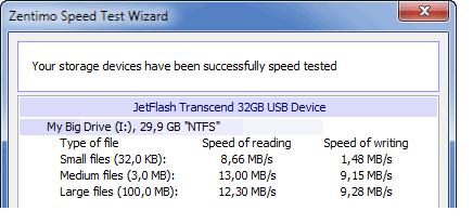 Справка Zentimo - How to speed test USB drives